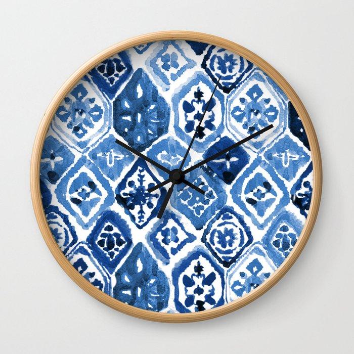 Arabesque tile art Wall Clock
