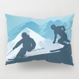 Let's Ski • Winter Sport • Christmas Special Pillow Sham