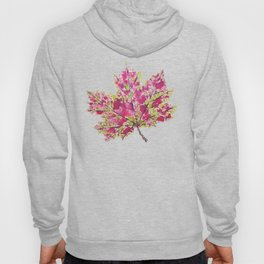 Pretty Colorful Watercolor Autumn Leaf Hoody