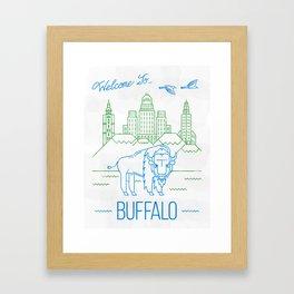 Welcome to Buffalo  Framed Art Print