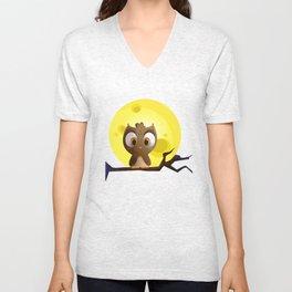 Baby Owl Unisex V-Neck