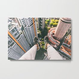 Sitting Way Atop the City Metal Print