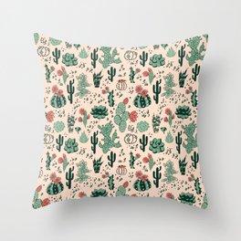 Succulent Desert Throw Pillow