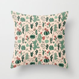 Succulent Desert Throw Pillow