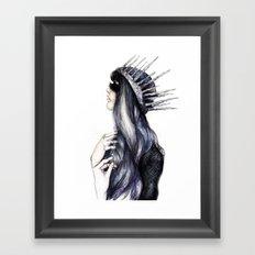 Ice Queen // Fashion Illustration Framed Art Print