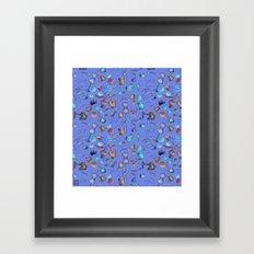 Sewing tools - azulados Framed Art Print
