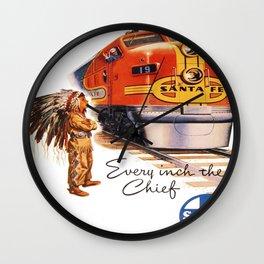 Vintage poster - Santa Fe Wall Clock