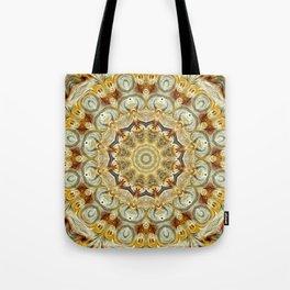 Flower Of Life Mandala (Golden Hours) Tote Bag