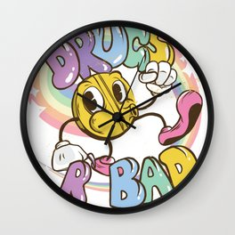 drugs r bad Wall Clock