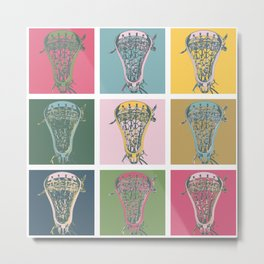 Lacrosse Marylin Blue Metal Print