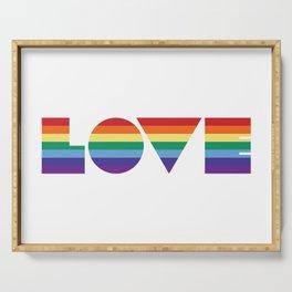 Rainbow love Serving Tray