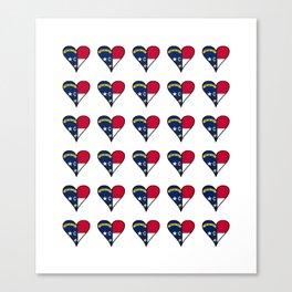 flag of north carolina heart, south,usa,Old North State,Tar Heel,North Carolinian,Charlotte,Raleigh Canvas Print