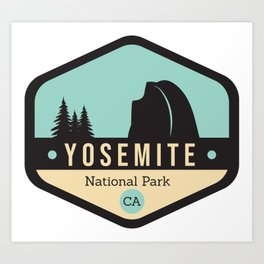 Yosemite National Parks Badge Art Print