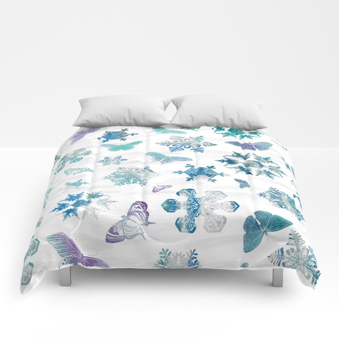 Snowflakes and Butterflies Comforters
