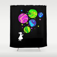 bubbles Shower Curtains featuring Bubbles by Finlay McNevin