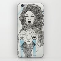 sisters iPhone & iPod Skins featuring Sisters by Katastrofe