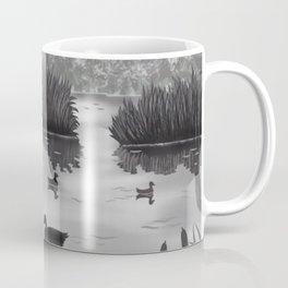 The Pond Black and White Coffee Mug