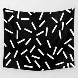 Sprinkles Black Wall Tapestry