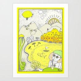 Lemon paradise Art Print