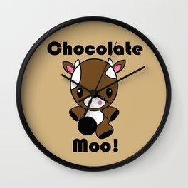 Chocolate Moo! Wall Clock
