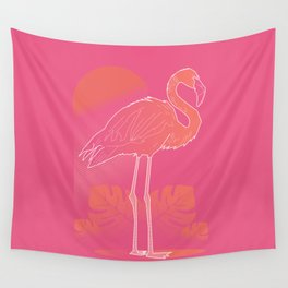 Flamingo Sunset Wall Tapestry