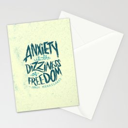 Kierkegaard on Anxiety Stationery Cards