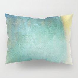 Decorative Blue Writing Texture Vintage Pillow Sham