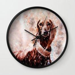 Borzoi Dog Portrait Wall Clock
