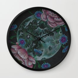 Flower Full Moon (May) Wall Clock