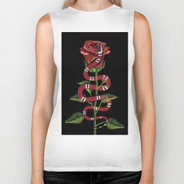 The Snake And The Rose Biker Tank