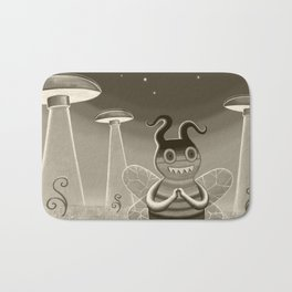 bee movie noir Bath Mat