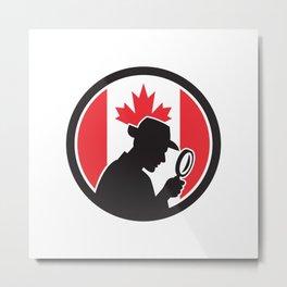 Canadian Private Investigator Canada Flag Icon Metal Print