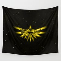 zelda Wall Tapestries featuring Zelda - Triforce by albert Junior