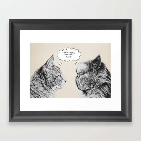 Cat Confusion Framed Art Print