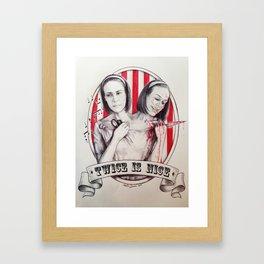 Tattler Twins  Framed Art Print