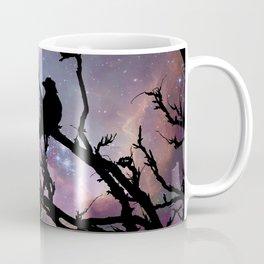 Surreal Black Bird Crow Stars Night Moon Art A492 Coffee Mug
