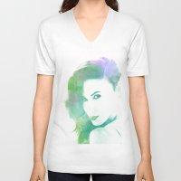 model V-neck T-shirts featuring Model by PRpietro_P&J WebLab