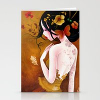 copper Stationery Cards featuring Copper by Sybile Art
