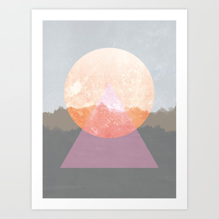 Landscape Abstract 3 Art Print