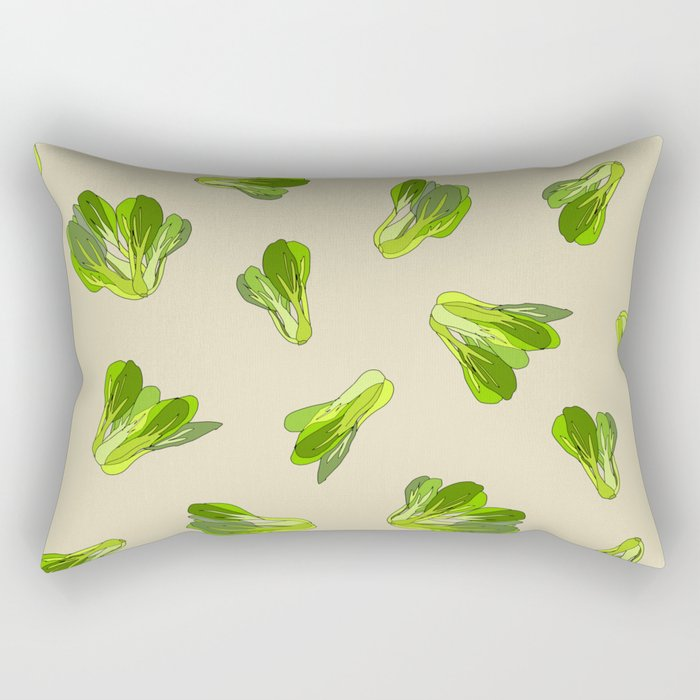 Lettuce Bok Choy Vegetable Rectangular Pillow