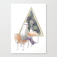 study Canvas Prints featuring Study by cruelo