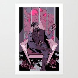 corvo the black Art Print