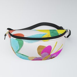 Rainbow Butterfly Collage Fanny Pack
