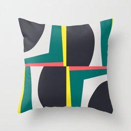 Modern Geometric 65 Green Throw Pillow