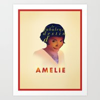 amelie Art Prints featuring Amelie by Mahdi Chowdhury