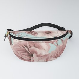 SEPIA ROSES ON GREEN Fanny Pack