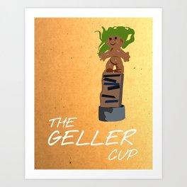 Friends 20th - Geller Cup Art Print