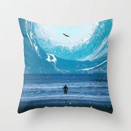 The Circle of Mountains Throw Pillow