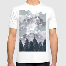 Winter Tale White Mens Fitted Tee MEDIUM