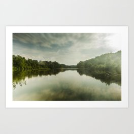 Cloudy River Art Print